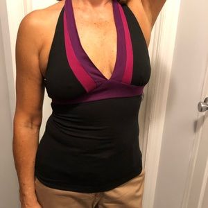 Halter top black/ berry colors